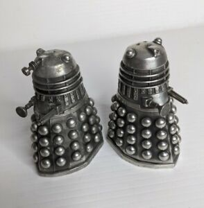 Vintage Doctor Who Daleks Salt Pepper Pewter set - Asmartartz RARE