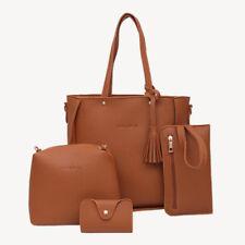 Women 4 in 1 Leather Handbag Lady Shoulder Bags Tote Purse Messenger Satchel Set