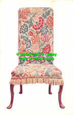 R464058 Chair. Walnut covered with petit point embroidery in wool and silk. 18th