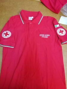POLO CRI CROCE ROSSA ITALIANA S M L XL XXL MAGLIETTA  FELPA t-shirt