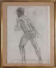 Micheline RESCO (1894-1968) attribué à.Epéiste.Fusain et estompe.63x47.
