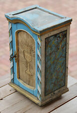 Antique small painted religious cabinet