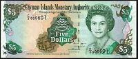 2009 Cayman Islands $5 Dollars Banknote * C/2 000601 * aUNC * P-34b *