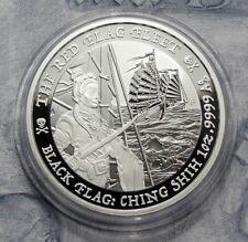 1 Dollar 2021 - Tuvalu - Black Flag - The Red Flag Fleet - 1 oz Ag