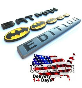 BATMAN FAMILY EDITION Trunk Emblem SELF ADHESIVE car logo TRUCK decal SUV SIGN