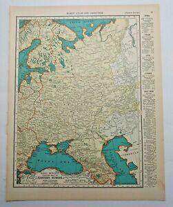 1938 Vintage SOVIET UNION Authentic Antique Atlas Map - Collier's World Atlas