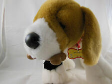 "Build a Bear plush Beagle dog 10"" X 19"" with bone and sound box Excellent"