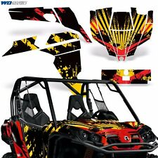 Graphic Kit Can-Am Commander w/Door Decals UTV MAX Wrap 800r 800/1000 Parts RS
