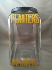 Vintage 1930's Planters Peanuts Glass Jar General Store Counter Display Sign