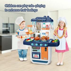 Kinderküche Spielküche SpielzeugKüche Küchengeräte mit Lichtern Blau