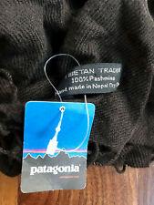 Patagonia Tibetan Trader 100% Pashmina Scarf Unisex Soft Chocolate Nwt Perf Gift