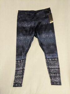 Calia By Carrie Underwood Womens Warm Printed Tight Fit Leggings Blue  1X New