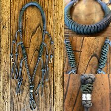 Paracord Duck Goose Waterfowl Predator Call Lanyard Gray & Camo Green