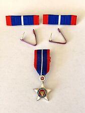 Malaysia Malaya Star of Sarawak Medal Order Silver Bentara Bintang Miniature Set