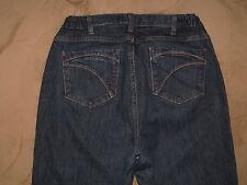 Eddie Bauer Size 18WOS Curvy Dark Blue Stretch Denim Womens Jeans