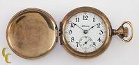 Illinois Full Hunter Gold Filled Antique Pocket Watch Gr 35 0S 15 Jewel
