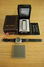 RARE CITIZEN 200M BLACK DIAL DOLPHIN DIVERS WATCH & WATCH BAND WATCHBAND STRAP