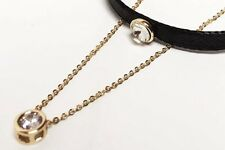 Korean Style Choker Necklace - Gold