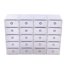 20x Schuhkarton Schuhbox Schuhaufbewahrung Stapelbox transparent mit Deckel