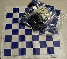 Tournament Chess SET 2 extra Queens Vinyl Board Bag in BLUE color NEW