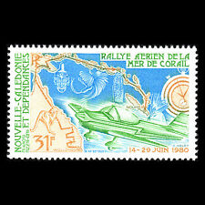 New Caledonia 1980 - Coral Sea Air Rally Aviation - Sc C164 MNH