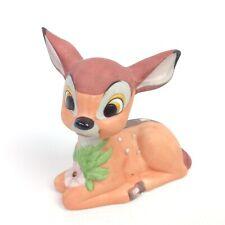 Walt Disney's Bambi Porclean Figure Vintage Hand Painted Ceramic Knick Knack