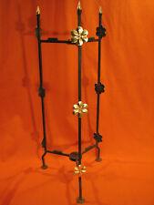 Porte-plantes PLIANT Art Deco en fer forgé doré wrought iron ferro battuto