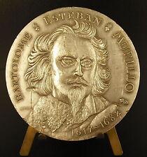 Médaille au peintre espagnol Bartolomé Esteban Murillo argent 151 g silver medal