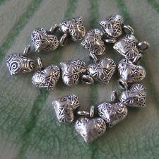 Handmade Heart Silver Three Beads Thai Karen Hill tribe