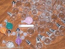 10pc Mix Lot Glass potion Christmas bottles Pendant Vial small charms necklace *