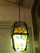 Accepting Best Offers! Rare Important Antique Colorful Chunk Glass Chandelier
