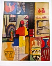 August Macke Poster Merchant with Jugs Offset Lithograph Unsigned 14x11