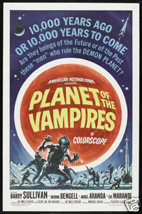 Planet of the vampires cult horror movie poster print