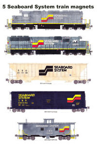 Seaboard System Freight Train 5 magnets Andy Fletcher