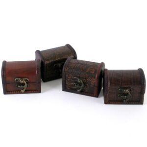 BEAUTIFUL SET OF FOUR MINI TRUNKS/ TRINKET BOXES