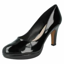 Clarks Composition Leather High (3-4.5 in.) Women's Heels