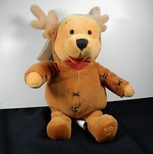 Authentic Disney Store Mini Bean Bag REINDEER POOH 8 Inch 1999 MWT