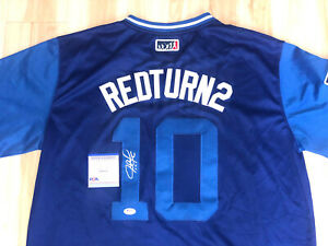 JUSTIN TURNER HAND SIGNED LOS ANGELES DODGERS PLAYERS WEEKEND JERSEY PSA DNA