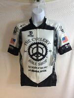 Althos Unisex Bike Pro Race Cycling Jersey Shirt Full Zip Race Team USA  S New