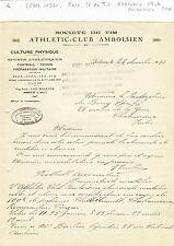 Dépt 37 - Amboise - Rare Société de Tir Athletic Club Amboisien du 28/12/1930