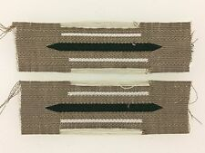 Germany WWII German Army or Heer Infantry enlisted man's woven collar patches