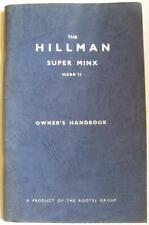 HILLMAN Super Minx Mk II Car Owners Handbook 1963 #6600942 #IB.372/4