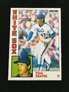 1984 OPC TOM SEAVER RARE O-PEE-CHEE METS BASEBALL CARD