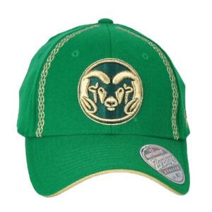 NCAA Zephyr Colorado State Rams Green Flex Fit Stretch Medium Large ML Hat Cap