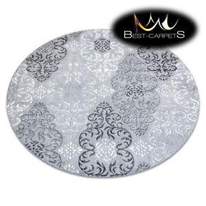 Modern Designer Rug MEFE circle, ornament, structural, GREY, best quality