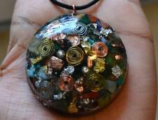 Ultimate Crystal Mix -Powerful Orgone Pendant - Amethyst, Emerald,Jade, & MORE!