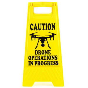 Drone Safety A Frame Caution Sign - Drone Operations in Progress - M Series I...