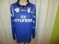 "Hamburger SV Original uhlsport Langarm Auswärts Trikot 1995/96 ""HYUNDAI"" Gr.M- L"