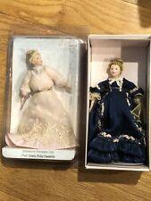 Two Miniature Victorian Porcelain Dolls