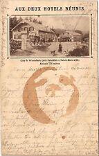 CPA Aux deux Hotels Réunis (184695)